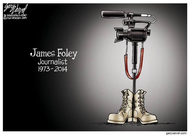 Gary Varvel, hommage à James Foley, 2014.