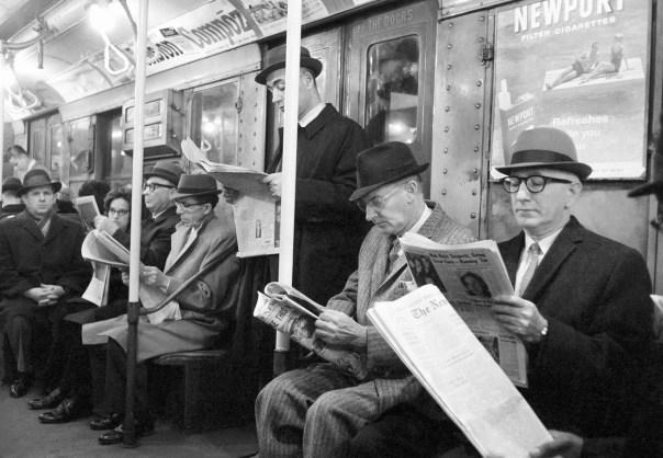 Jacob Harris, New York's subway, avril 1963.