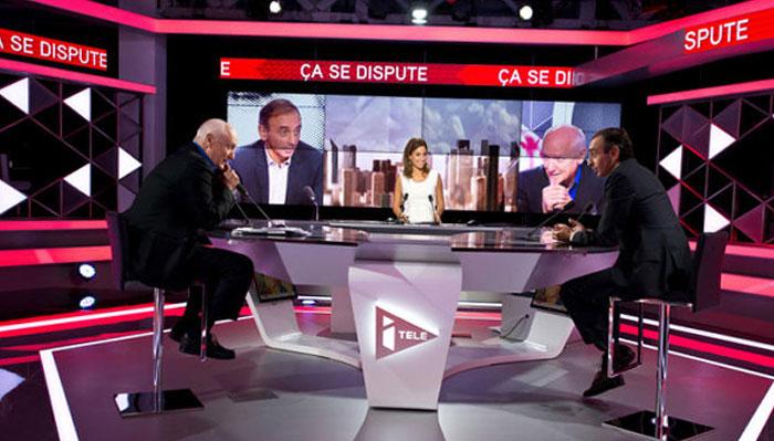 i Télé, Ça se dispute, avec Eric Zemmour et Alain Domenach.
