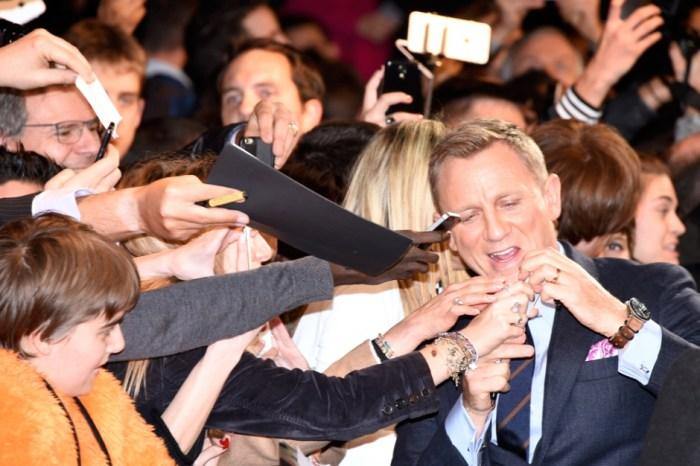 Avant-première parisienne de Spectre, 29/10/2015 (photo Miguel Medina, AFP).
