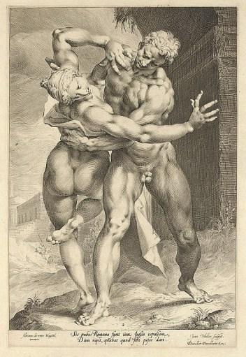 Jan Harmensz Muller, Enlèvement d'une Sabine, 1598.