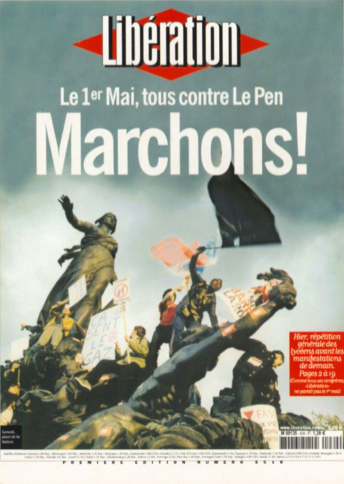 Libération, 30 avril 2002 (photo Guillaume Herbaut).
