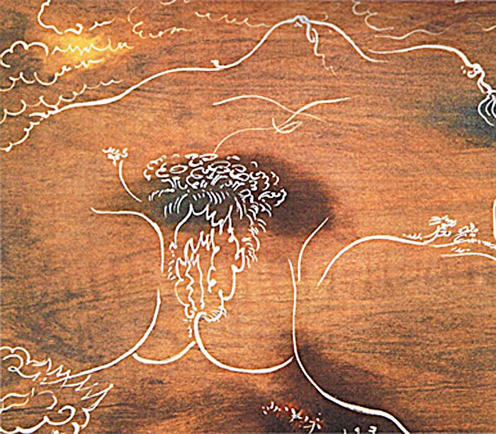 André Masson, Terre érotique (masque de l'Origine du monde ), v. 1955 (coll. part.).