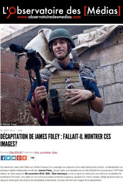 Observatoire des médias, 20/08/2014