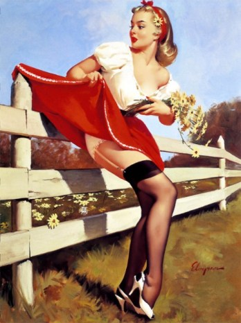 Gil Elvgren, pin-up.