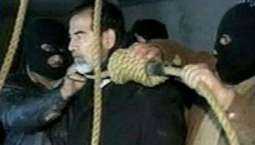 Exécution de Saddam Hussein, 30/12/2006 (photogramme).