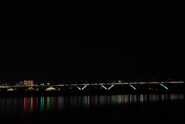 National Harbor and Wilson Bridge from Alexandria Waterfront. Nikon D200, 18-70mm AF-S DX, ISO 100, f/16, 60 sec