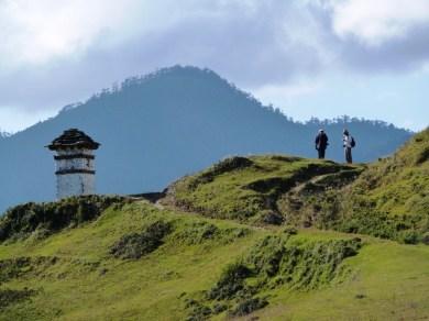 Tourists in Phobjikha Valley