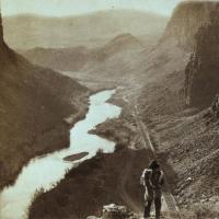 A native American and the transcontinental railroad in Nevada
