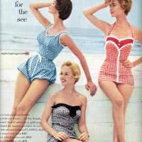 Women's swimwear in the 50's