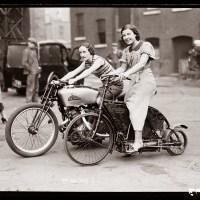 1920's biker chicks!