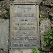 1961 Plaque-Machu Picchu