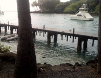 2009-Keauhou_Bay-water_receding_at_dock