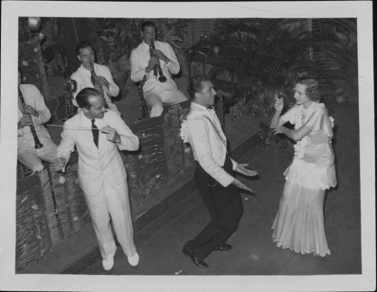5-Oni Oni, with dancers Hazel Hale and Clayton Ramler at the Royal Hawaiian Hotel-P-4-3-012-Oct 10, 1934