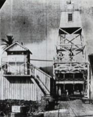62-Lahaina-Harbor-Light-1866 lighthouse on the left and new 1905 skeleton tower (lighthouseguy-com)