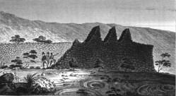 A large ruined wall near the town of Kailua-Kona, Hawaii.1822-23