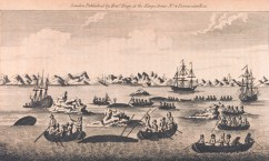 A view of whale fishery, from A Collection of Voyages round the World...Captain Cook's First, Second, Third and Last Voyages, 1790 (NOAA)