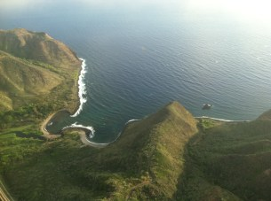 Aerial-of-Halawa-Bay-North-Shore-Molokai