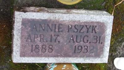 Annie Pszyk headstone