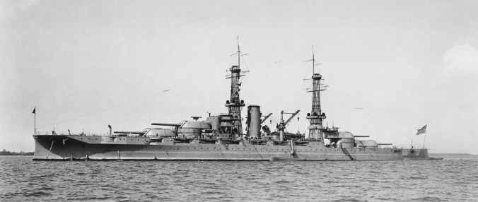 Arizona (BB39) before modernized at Norfolk Naval Shipyard between May 1929-Jan 1930-WC