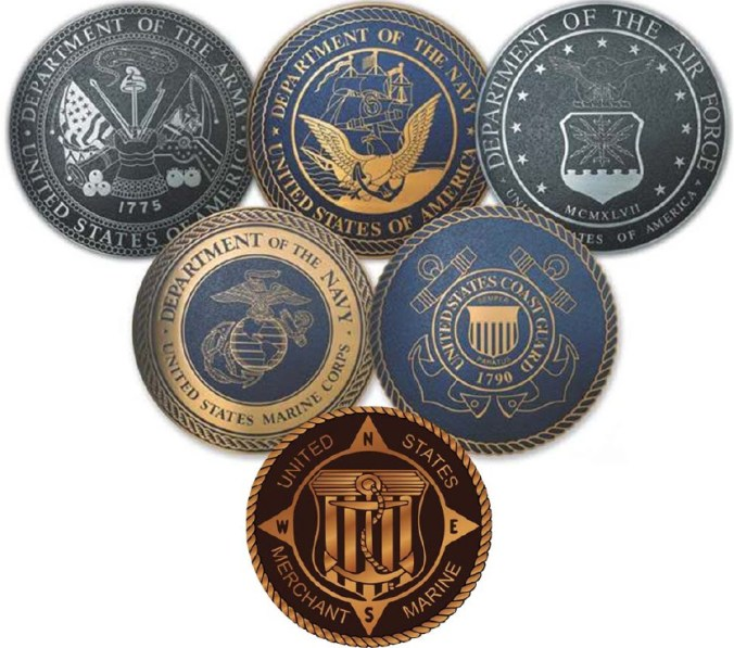 Army-Navy-Air Force-Marines-Coast Guard-Merchant Marines