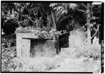 Baldwin Home Kitchen Ruins, West of St. Philomena Church-Kalawao-LOC
