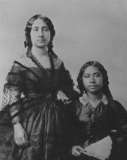 Bernice Pauahi Paki and Lydia Kamakaeha (Liliuokalani)-1859