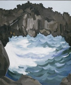 Black Lava Bridge, Hana Coast-1939, by Georgia O'Keeffe