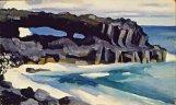 Black Lava Bridge, Hana Coast No. 1-1939, by Georgia O'Keeffe