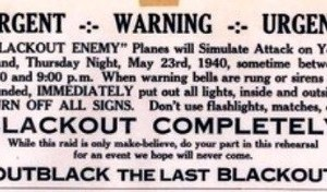 Blackouts Before the Bombing