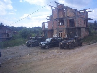 Bosnia - Our armored escort whenever we left the base