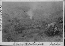Burning of Koolau's house in Kalalau Valley, Kauai-HSA-HHS