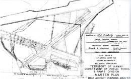 CAA Region IX, 1947 National Airport Plan, Maui Airport at Puunene, Maui Master Plan, February 26, 1947-(hawaii-gov)