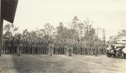 CCC enrollees standing at attention. NPS Photo-Hawai'i Volcanoes National Park archives