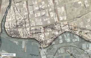 Campbell-Honolulu-1810_map_over_GoogleEarth