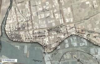 Campbell-Honolulu-1810_map_over_GoogleEarth