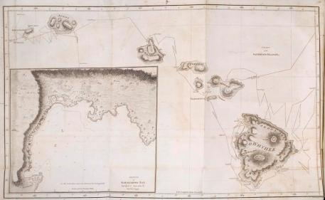 Captain Cook's last voyage-the map of Hawaii from Cook's posthumous 'A voyage to the Pacific Ocean' (London, 1784)