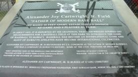 Cartwright Field plaque-KHON