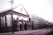 Cathedral (left)-Congregation of the Sacred Hearts of Jesus and Mary's School and Convent-(right)
