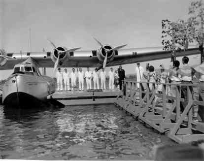 Ceremony christening the Pan American Hawaii Clipper, Pearl Harbor-PP-1-9-006-1936