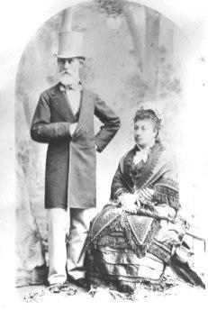 Charles Reed Bishop and his wife Bernice Pauahi Bishop in San Francisco in September 1876