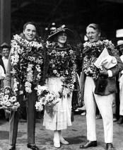 Charlie Chaplin, Edna Purviance and Robert Wagner-1917