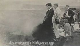 Charlie Chaplin, Robert Wagner and Edna Purviance-Volcano-1917