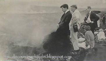 Charlie Chaplin, Robert Wagner and Edna Purviance-Volcano-1917