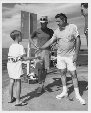 Chuck Kelley meets actor Richard Boone-HIBT-Outrigger