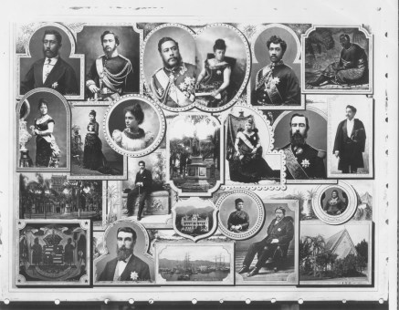Collage of images of Kamehameha and Kalakaua dynasties-HSA