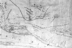 Detail of map of Fort Vancouver-Columbia River,