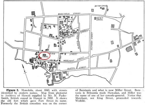 Downtown Honolulu MapHawaiian_Historical_Society-OP20-1843