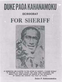 Duke Kahanamoku for Sheriff
