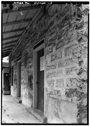 ENTRANCE, INSIDE PORCH - Mission Printing Office-(LOC)